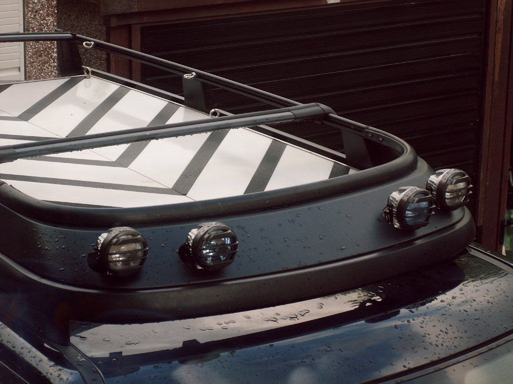 how to run lights on a roofrack