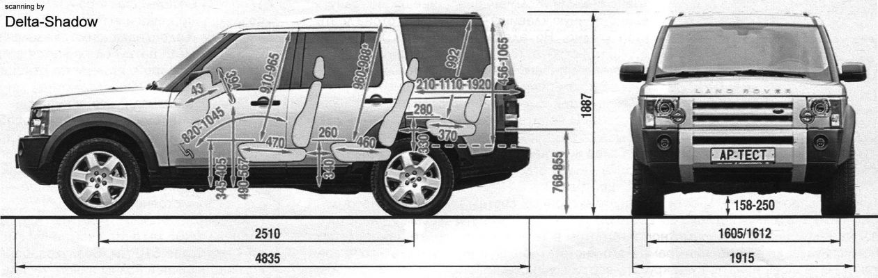 Land Rover Discovery dimensions fhoto